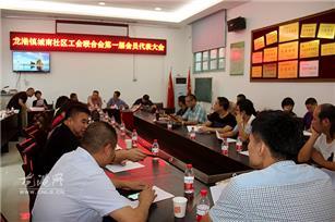 城南社区召开工会联合会第一届会员大会
